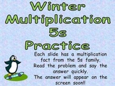 Multiplication PowerPoint 5s- Winter Theme