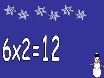 Multiplication PowerPoint 6s- Winter Theme