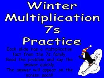 Multiplication PowerPoint 7s- Winter Theme