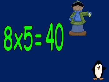 Multiplication PowerPoint 8s- Winter Theme
