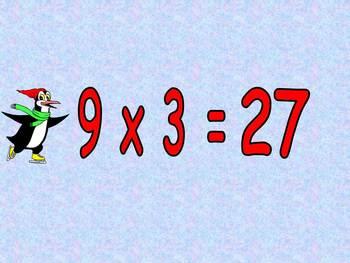 Multiplication PowerPoint 9s- Winter Theme