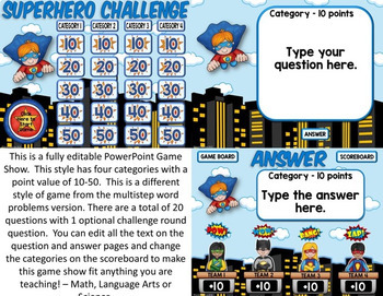 Multiplication Game Show: Multiplication PowerPoint Game 2nd - 4th Grade