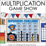 Multiplication Game Show: An Editable Multiplication Review PowerPoint Game