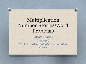 Multiplication PowerPoint - GoMath Chapter 2