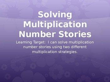 Multiplication PowerPoint - GoMath Chapter 3