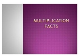 Multiplication PowerPoint- Math Facts