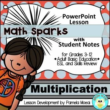 Multiplication PowerPoint and Student Notes Newly Revised
