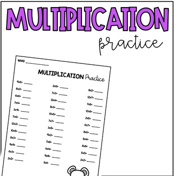 Multiplication Practice #1