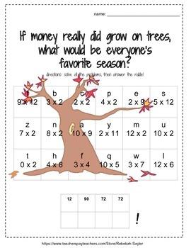3rd Grade Math: Multiplication Worksheets: FALL