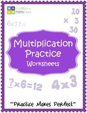 Pre-Assessment For Multiplication, Practice Sheets Multiplying By 1, 2, 3 Digits