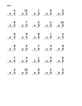 Multiplication Practice (Editable)