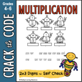 Multiplication Practice Activity : 2-digits by 3-digits - Crack the Code