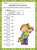 Multiplication Practice-Homework   CCSS.MATH.CONTENT.3.OA.A.1