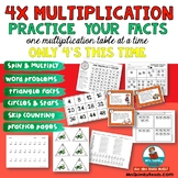 Multiplication Practice | x4 Table | Practice Page Printables