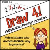 Multiplication Practice Activities & Games – Draw 4!