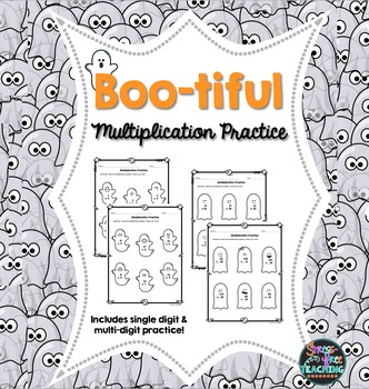 Multiplication Practice - Boo-tiful Syle
