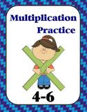 Multiplication Practice Book (4, 5, 6)