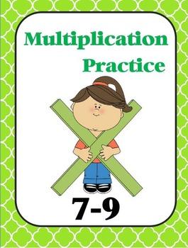 Multiplication Practice Book (7, 8, 9)