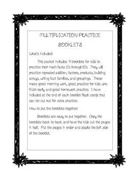 Multiplication Practice Booklet for 2's