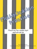 Multiplication Practice Booklets