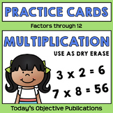 Multiplication Practice Cards (Dry Erase)