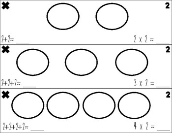 Multiplication Practice Cards- loops and groups