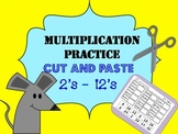 Multiplication Practice Cut and Paste