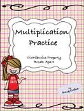 Multiplication Practice : Distributive Property and Break Apart Methods