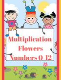 Multiplication Practice Flower Worksheet Facts 0-12 Common