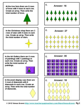 Multiplication Practice Folder Activity: Sentences, Groups, and Arrays