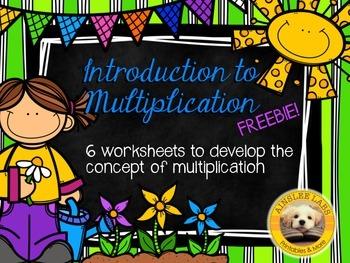 Multiplication Practice Freebie: Worksheets to introduce m