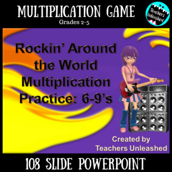 Multiplication Game on PowerPoint {Fast Facts}