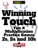 Multiplication Practice Game for Beginners; 2s, 5s and 10s Winning Touch