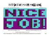 Multiplication Practice Hidden Message Nice Job