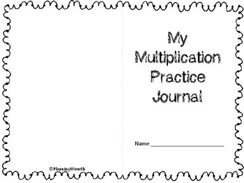 Multiplication Practice Journal