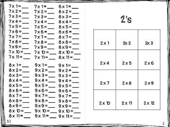 Multiplication Practice Journal