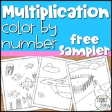 Multiplication Practice Math Activity Color By Number Sampler