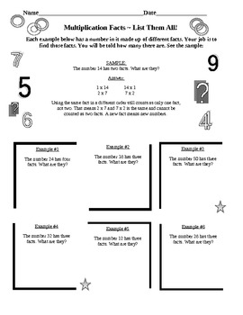 Multiplication Practice & More