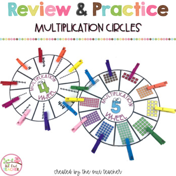 Multiplication Practice - Multiplication Wheels