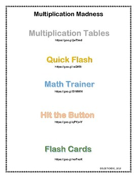 Multiplication Websites: Practice Facts Online