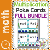 Multiplication Practice Poke Cards Facts 2-11
