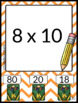 Multiplication Practice Poke Cards Facts 2, 4, and 8