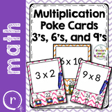 Multiplication Practice Poke Cards Facts 3, 6, and 9
