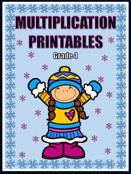Multiplication Printables - Winter