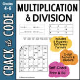 Multiplication Practice: Products & Factors - 3 Crack the Codes!