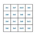 Multiplication Practice Puzzle