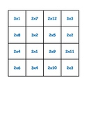 Multiplication Practice Puzzle