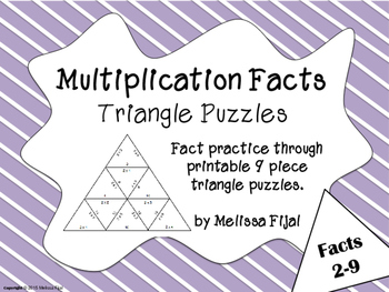 Multiplication Practice Puzzles Facts 2-9