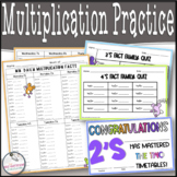 Multiplication Practice, Quizzes, Mixed Reviews, & Multipl