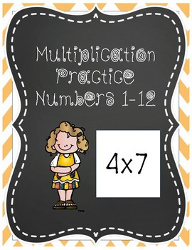 Multiplication Practice/Multiplication Facts